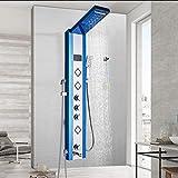 Panel de ducha de níquel cepillado en la pared Grifo de columna de ducha Pantalla de temperatura digital Grifo mezclador de ducha con cabezal de pulverización de bidé