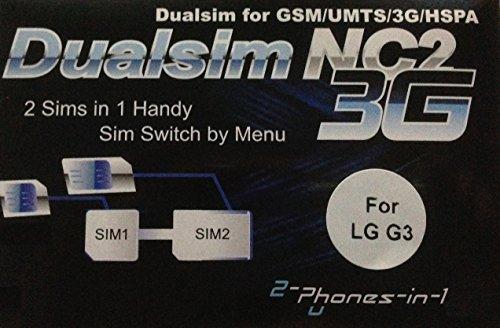 2-phones-in-1® 2in1-nc2l3 NC2 L3 Dual SIM Adapter für LG G3