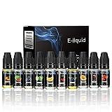 WOTEK E liquido 10*10 ML Adecuado para todos los cigarrillos electrónicos, líquidos para...