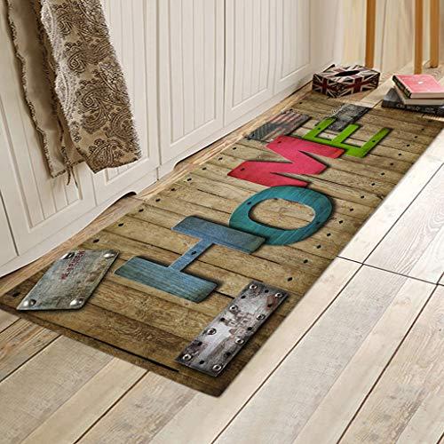 Kangma Anti-Skid Colorful Rugs Printed Cute Indoor Dining Carpet Home Room Bathroom Bathtub Doormats Area Rug 40x120cm & 60cm x 180cm/24 x 71 Inch