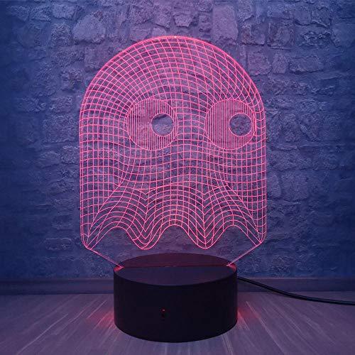 Spiel PAC MANN 3D LED Nachtlicht Cartoon Spiel Thema Farbe Nachtlicht Schlafzimmer Dekorative LED lámpara de Illusion Kinder Baby Geschenke