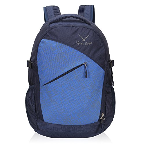 Travel Max Outdoor Daypack Laptop Back Pack, Durable 25L Daily Carry Overnight Casual Bag with Water Bladder Exit,Business Backpack Fit 13.3 inch Notebook,Men&Women Hiking School Backpack (Dark Blue)