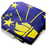 VSVO Indiana Flag 3x5ft. with Double Sided Embroidered, Long Lasting Nylon US in Flag