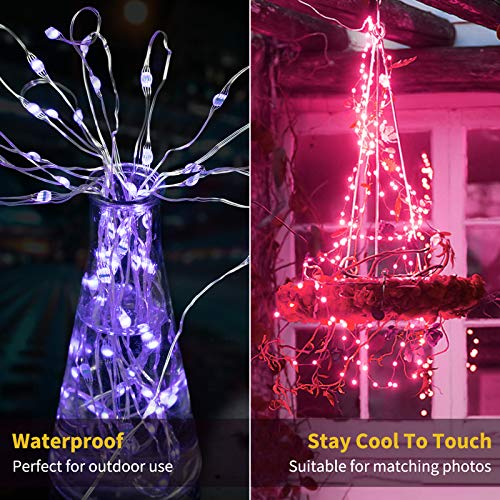 Color Changing Fairy String Lights 33 Feet 100 Led Twinkle Lights USB Operated Silver Wire Starry Lights with Remote and Adapter Firefly Lights for Bedroom Party Wedding Camping Indoor Outdoor Decor