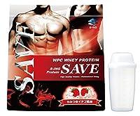 【シェイカー付】SAVE プロテイン やみつきイチゴ風味 5kg 美味しいWPC ホエイプロテイン 乳酸菌・バイオペリン・エンザミン酵素配合