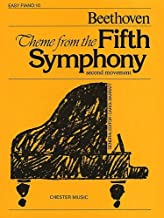 Tema de la quinta sinfonía (Piano de la suerte, número 10) – hoja de música