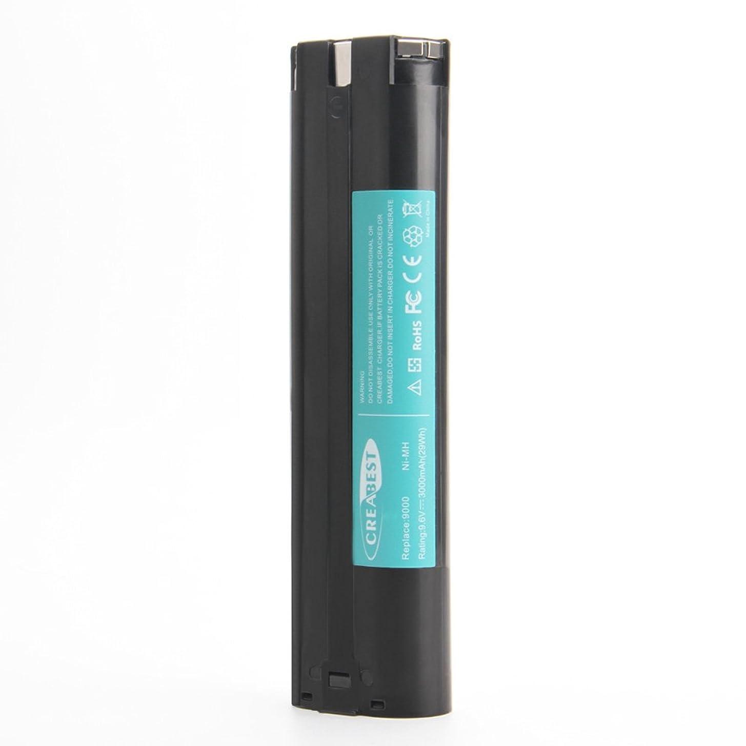 哲学的取り除く本物Creabest 9.6V 3000mAh ニッケル水素 互換 バッテリー マキタ 9000 9001 9002 9033 9600 191681-2 192533-0 632007-4 Ni-MH 互換 バッテリー