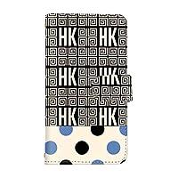 スマQ LG Style3 L-41A 国内生産 ミラー スマホケース 手帳型 LG エルジー エルジー スタイル スリー 【C-ブルー】 葛飾北斎 ドット HK パターン ami_hokusai-003-camel