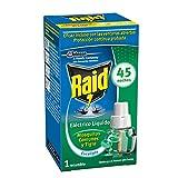 Raid - Recambio para difusor eléctrico anti mosquitos comunes y tigre aroma eucalipto, 45 noches, 1 recambio