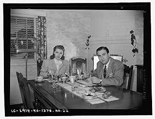 Photo: Lana Turner,Artie Shaw eating breakfast,Beverly Hills,California,E Thiesen,1940