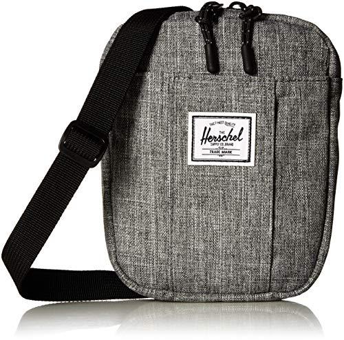 Herschel Cruz Cross Body Bag, Raven Crosshatch, 0.5L