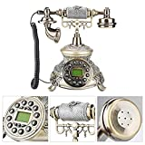 Bewinner Antique Decorative Telephones,EU Retro Style Resin Landline Home Office Telephone Desk Phone,Automatic Detection of FSK and DTMF Caller ID,Su