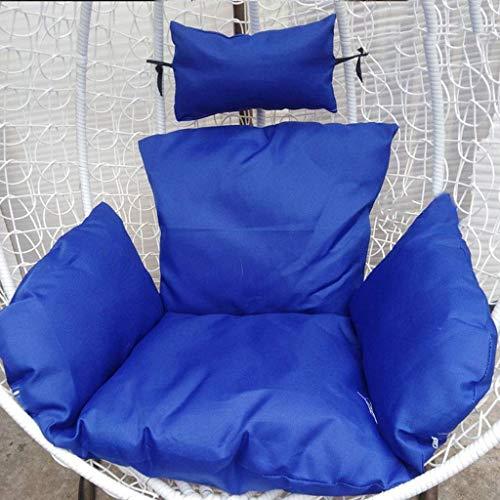 Yuany mand schommelstoel kussen rotan rieten ei hangstoel pads met comfortabele kussen voor binnen buiten, afmeting: 110x120cm (43,3x47,2 inch) (kleur: rood)