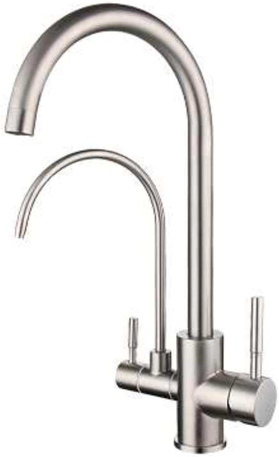 Kitchen Tap 3-Way Chrome Faucet for Cold Hot and Filtered Water.?for Osmosis Plants Drinking Water Systems? Kitchen Taps Kitchen Sink Mixer Taps Basin Tap