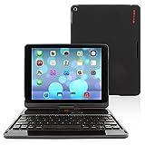 "iPad Air and New iPad 2017 9.7"" Keyboard, Snugg [Black] Wireless Bluetooth Keyboard"