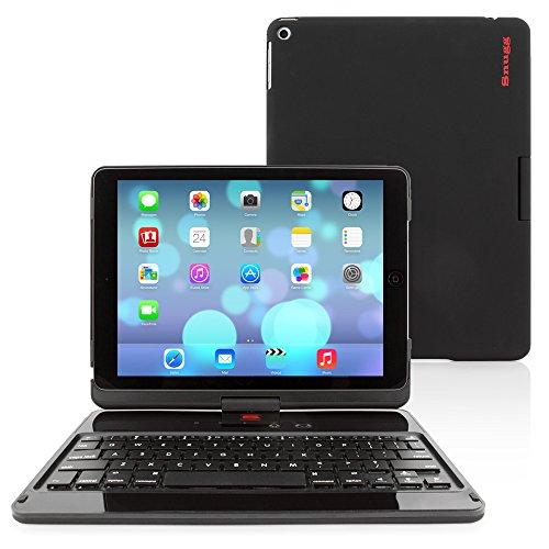"iPad Air (2013) and iPad 9.7 (2017) Keyboard, Snugg [Black] Wireless Bluetooth Keyboard Case Cover 360° Degree Rotatable Keyboard for Apple iPad Air (2013) and iPad 2017 9.7"""