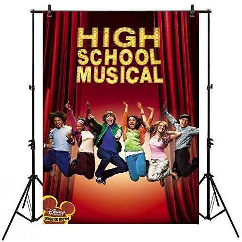 High School Musical Themed Party Background 5x7ft Vinyl High School Musical Photography Backdrop for Birthday Decorations Dance and Sing Party Banner Video Studio Props Picture Shooting