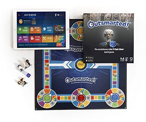 Outsmarted Family Trivia Board Game - Live Quiz Show + Remote Play Board Game for Kids, Teenagers & Adults