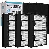 DerBlue 6PCS True HEPA Replacement Filter B for Holmes HAPF600,Replacement Holmes Air Filter,Part # HAPF600, HAPF600D, HAPF600D-U2,White