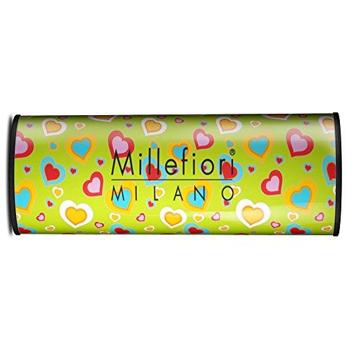 Millefiori Milano Car Air Freshener Icon Cuori e Fiori, White Mint & Tonka