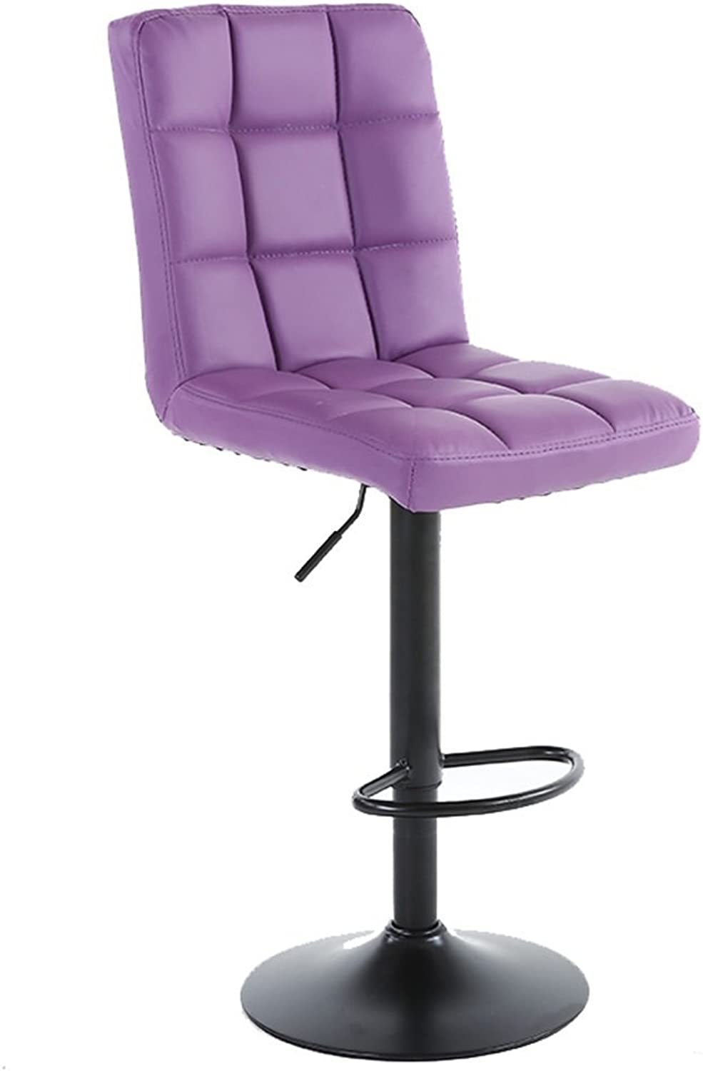 High Stool Bar Kitchen Breakfast Stool Dining Chair Can Lift up and Down Swivel Chair Bar Stool Tall Chairs Counter Chair (color   Purple)