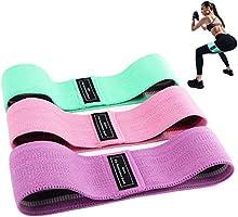 Bandas Elasticas Gluteos, Juego de 3 Bandas Elásticas Musculacion para fitness con 3 niveles, Resistencia Antideslizante...