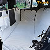 Lassie Dog Car Seat Cover for Back Seat Truck 100% Waterproof with Mesh Visual Window Durable Scratchproof Nonslip Heavy Duty Dog Car Hammock with Universal Size Fits for Cars, Trucks & SUVs