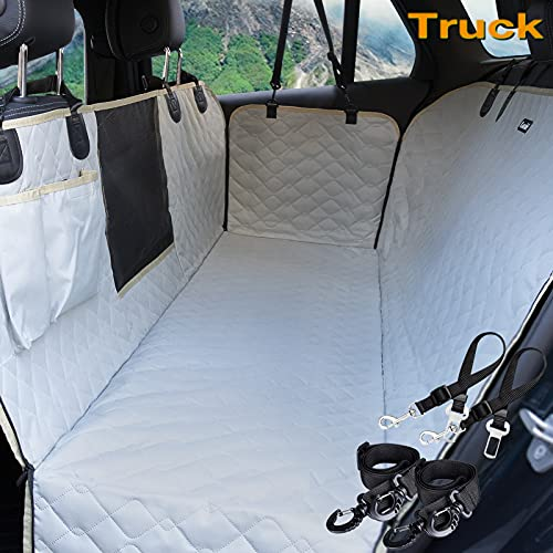 Lassie Dog Car Seat Cover for Back Seat Truck 100% Waterproof with Mesh Visual...