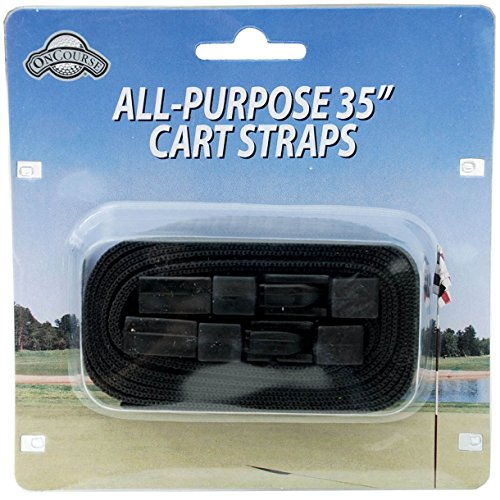 J & M Golf Cart Straps (2 Pack) with Easy Release Buckle