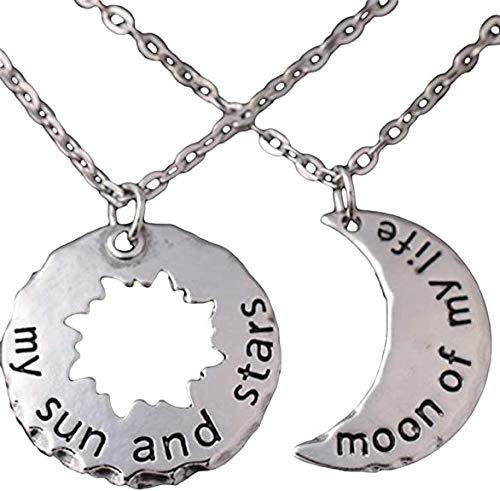 My Sun and Stars Moon of My Life Khal und Khaleesi 2-teiliges Halsketten-Kostüm-Set