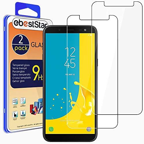 """ebestStar - [2 Pack Verre trempé Compatible avec Samsung J6 2018 Galaxy SM-J600F Film Protection Ecran Vitre Protecteur Anti Casse, Anti-Rayure, Pose sans Bulles [Phone: 149.3 x 70.2 x 8.2mm, 5.6""""]"""