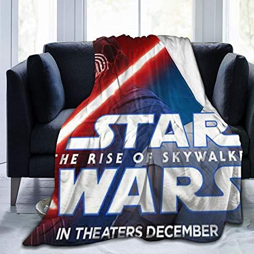 Manta Sherpa de Star Wars tamaño (150 x 125 cm), manta de forro polar, cálida y esponjosa, reversible, de microfibra sólida para cama y sofá