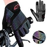 boildeg Fahrradhandschuhe Radsporthandschuhe Gradient rutschfeste und Stoßdämpfende Mountainbike Handschuhe mit Signalfarbe geeiget Unisex Herren Damen…