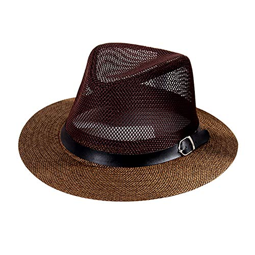 Kentop Panamahut - Cappello di paglia da uomo Fedora