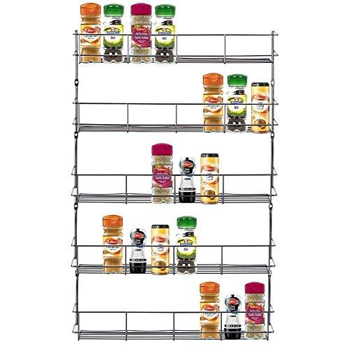 Estantería de 5baldas para especias hierbas tarro accesorio de soporte para montaje en armario de cocina puerta de almacenamiento o pared por Express Trading