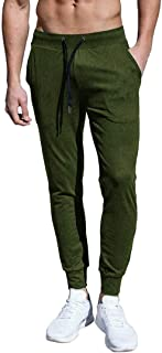 Rdruko Men's Joggers Sweatpants Gym Fitness Track Pants Slim Fit Tapered with Pockets