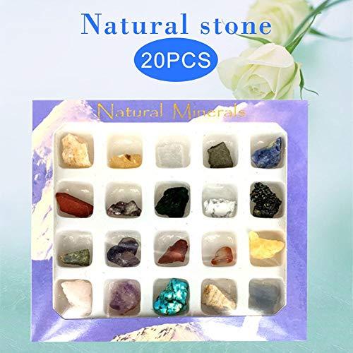 Decoracin de minerales, 20 unids Irregular Cada Minerales Coleccin de Ornamentos de Arte Decoracin Conjunto Regalos Regalos