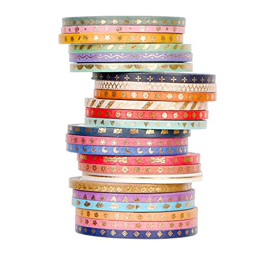HURRY $1.80 24 Rolls Washi Tape Use promo code:  70XAWEXH There is a quantity limit of 1