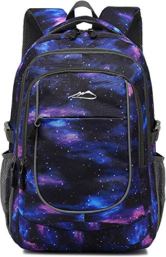 Backpack Bookbag for School College Student Travel Business Hiking Fit Laptop Up to 15.6 Inch (Color Galaxy C)