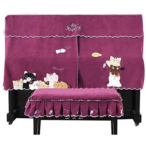 YBWEN afdekking voor piano, kruk, kat, cartoon, model piano, halfhoog, met standaard tafelblad voor piano's, tassen, hoezen en hoezen
