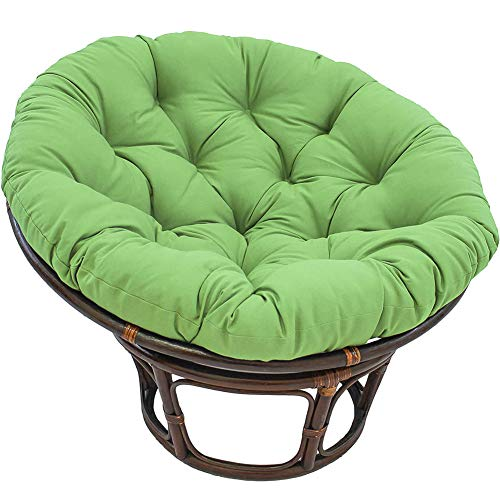 Papasan Round Chair Cushions Swing Basket Cushion Thick Comfortable Oversized, for Hanging Beds Indoor or Outdoor Swing Rocking Chair Seats, Non-Slip Waterproof, 15-50 in,Green,80cm