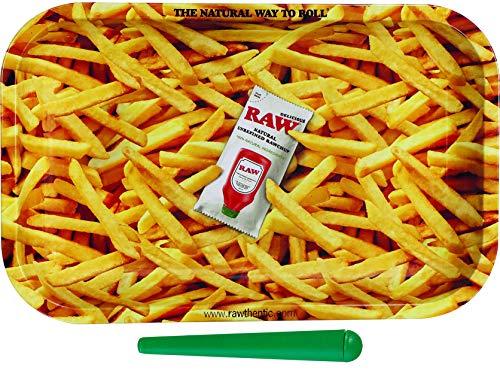 yaoviz® Set RAW French Fries Rolling Tray Small 27,5 x 17,5 x 2,5 cm + 1x konische Hülle 120mm bunt