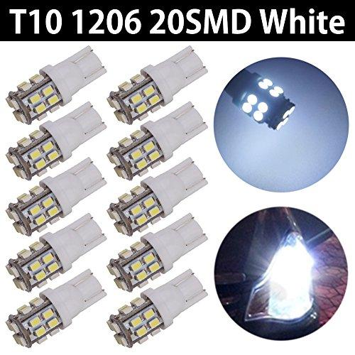 TABEN T10 194 Ampoules LED Blanc 6000K 168 2825 W5W 20SMD 1206 Chipset Ampoules de Remplacement LED Intérieur de Voiture Dôme Carte Porte Courtoisie Lumières de Plaque d'immatriculation 12V