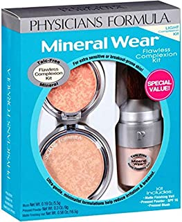 Physicians Formula Mineral Wear Flawless Complexion Kit, Light, 3 pc