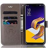 ASUS Zenfone 5z Lederhülle, ASUS Zenfone 5z Brieftaschen-Hülle, Leder-Prägung, mit Kreditkartenfach für ASUS Zenfone 5z ZS620KL