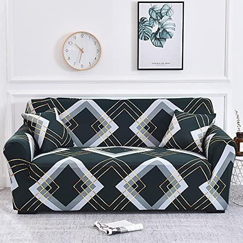 WXQY Fundas de Tela Escocesa elásticas Antideslizantes para sofá Funda de sofá para Mascotas Esquina en Forma de L Funda de sofá Antideslizante A17 1 Plaza