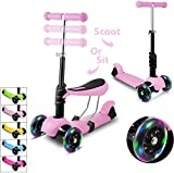 WeSkate Kids Scooters with Reovable Seat 3 Wheel Light Up Kick Scooters...