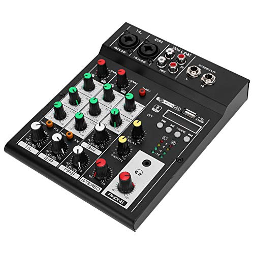 Audio Mixer - Mehrkanal-Audiomischer Ausgestattet mit Einer Hochwertigen Digital Effect CPU - Geeignet für Home Music Recording/Webcast/Karaoke/Network Singing