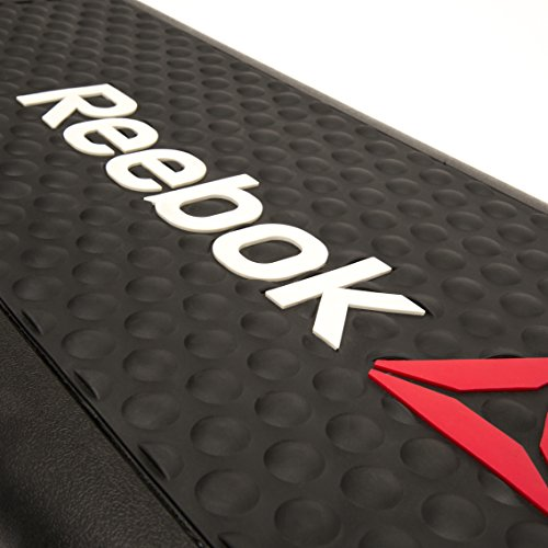 Reebok RSP-16150 Home Gym Exercise Equipment Non Slip Rubber Height Adjustable Aerobic Step Workout Platform