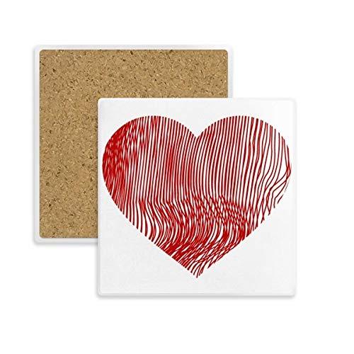 DIYthinker la Huella Digital del Cuadrado del corazón día de San valentín...